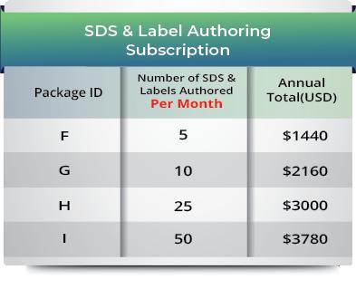 SDS & Label Authoring Subscription